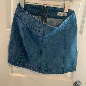 Free People Denim Miniskirt Size 8
